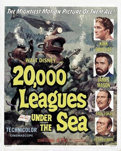 20000 LEAGUES UNDER THE SEA FILM POSTER