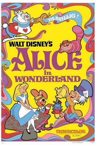 ALICE IN WONDERLAND FILM POSTER(1951)