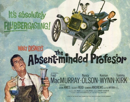 THE ABSENT MINDED PROFFESOR FILM POSTER(1963)