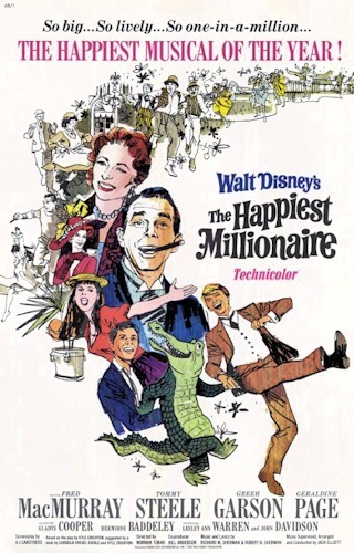 THE HAPPIEST MILLIONAIRE FILM POSTER(1967)