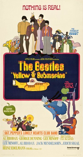 THE YELLOW SUBMARINE FILM POSTER(1968)