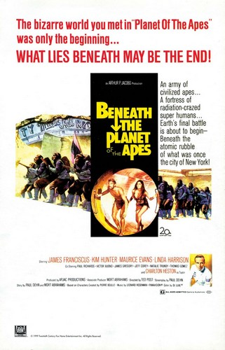 BENEATH THE PLANET OF THE APES FILM POSTER
