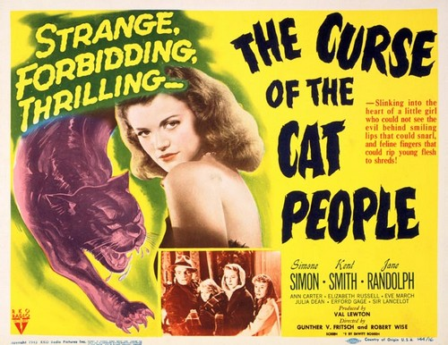 THE CURSE OF THE CAT PEOPLE FILM POSTER 2