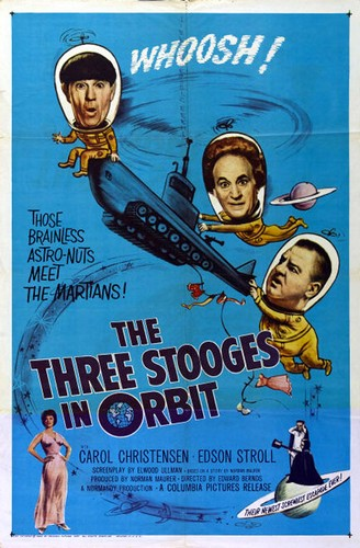 THE 3 STOOGES IN ORBIT(1959) FILM POSTER