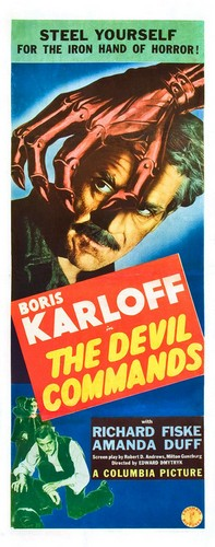 THE DEVIL COMMANDS FILM POSTER 1