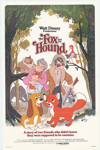 THE FOX & THE HOUND(1981) FILM POSTER