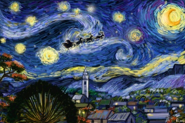 Starry Christmas by vassantha