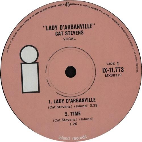 LADY D`ARBANVILLE SINGLE