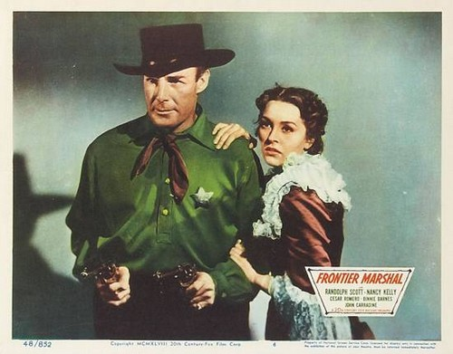 FRONTIER MARSHAL LOBBY CARD 8