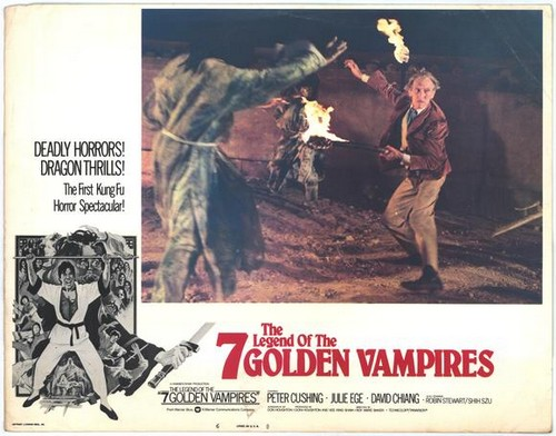 THE LEGEND OF THE 7 GOLDEN VAMPIRES LOBBY CARD 1