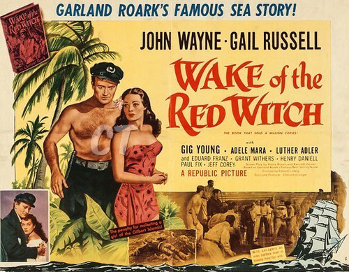 THE WAKE OF THE RED WITCH(1948) FILM POSTER 4 ct